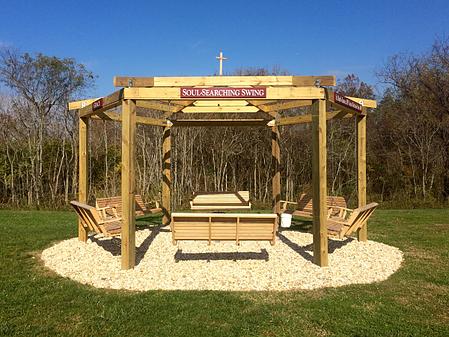 Pecometh's new fire pit swing