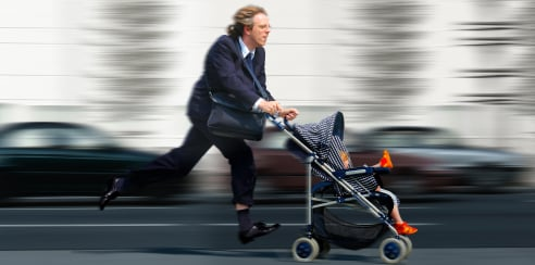man running with stroller XSmall