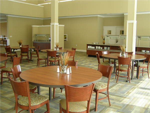The Dining Room can be configured for up to 125 people.