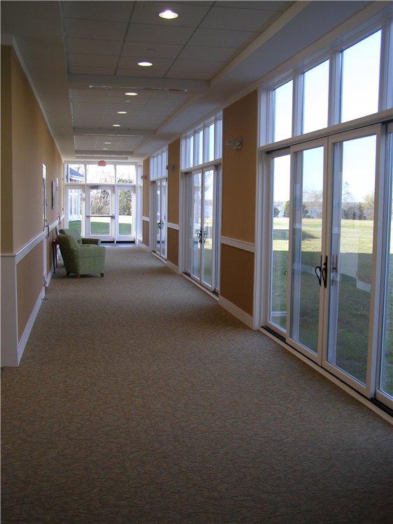 Windows throughout the center invite in views of the natural beauty around us.