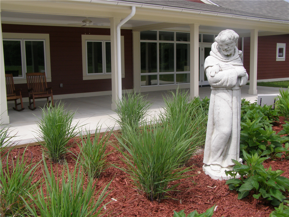 The sight of St. Francis in front of the building will remind many of the long tradition of retreats at Drayton Retreat Center. Now, with the RRC Pecometh is beginning a new era of God-inspired, life-changing experiences.