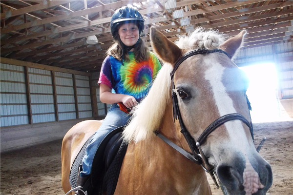 Campers in our Horseback camp program go up to Worthmore Equestrian Center in Chestertown each day in addition to doing all the other camp activities!