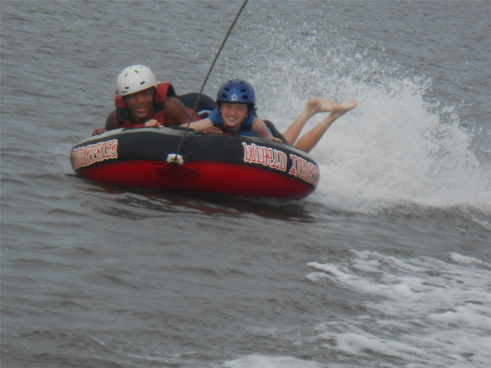 Tubing is a favorite activity among our Splashdown campers!