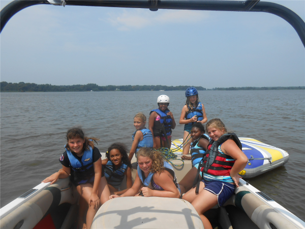 A group of Senior High campers gets ready to go Tubing!
