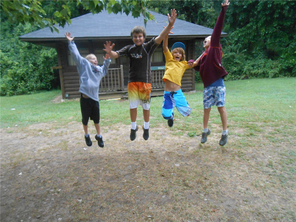Campers show their excitement - we sure love camp!
