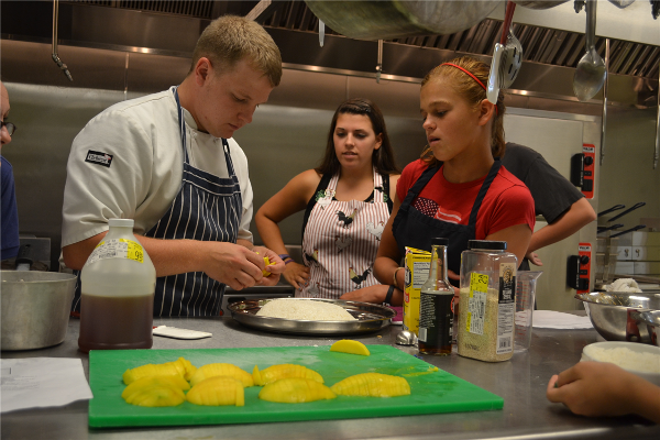 Top Chef Pecometh campers get a chance to develop their culinary skills in the kitchen of the Riverview Retreat Center at Pecometh.
