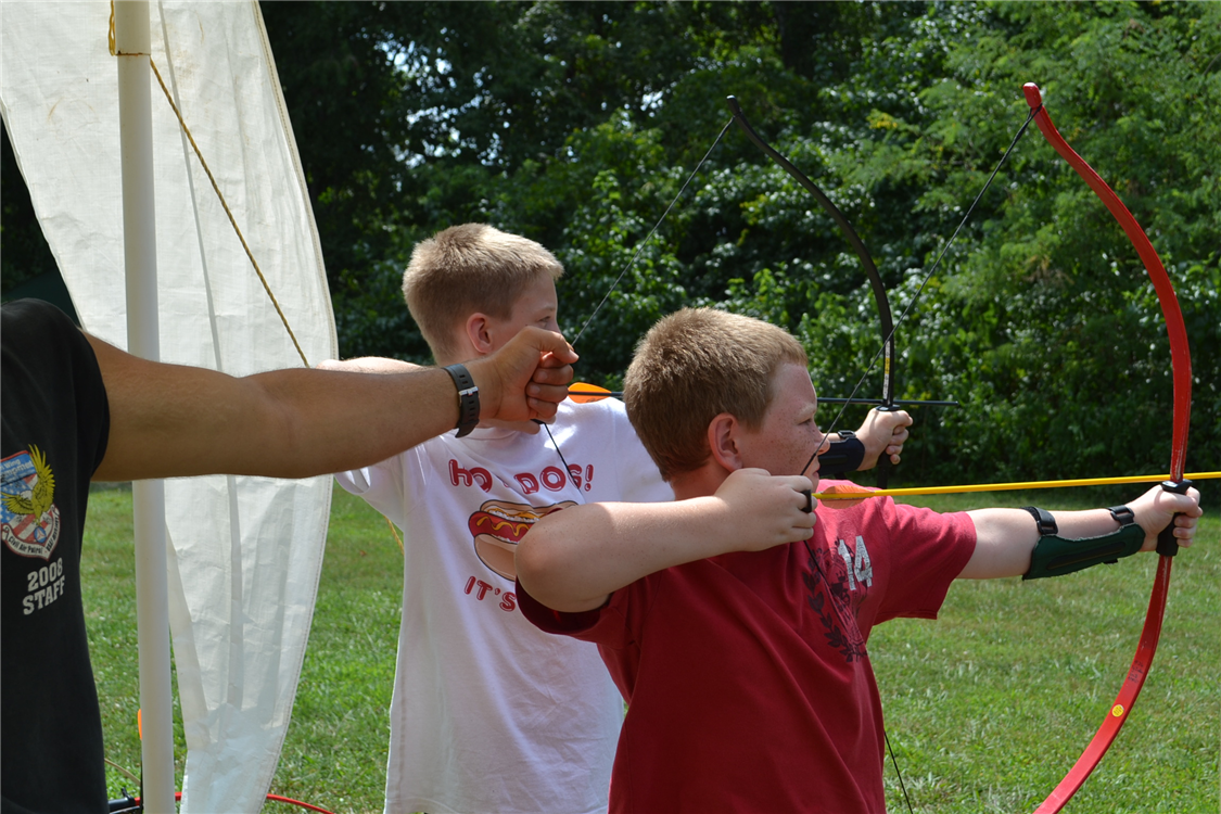 Many of our camp programs get to experience archery - but our new Archer Games program will get to hone their skills over several sessions or lessons and activities.
