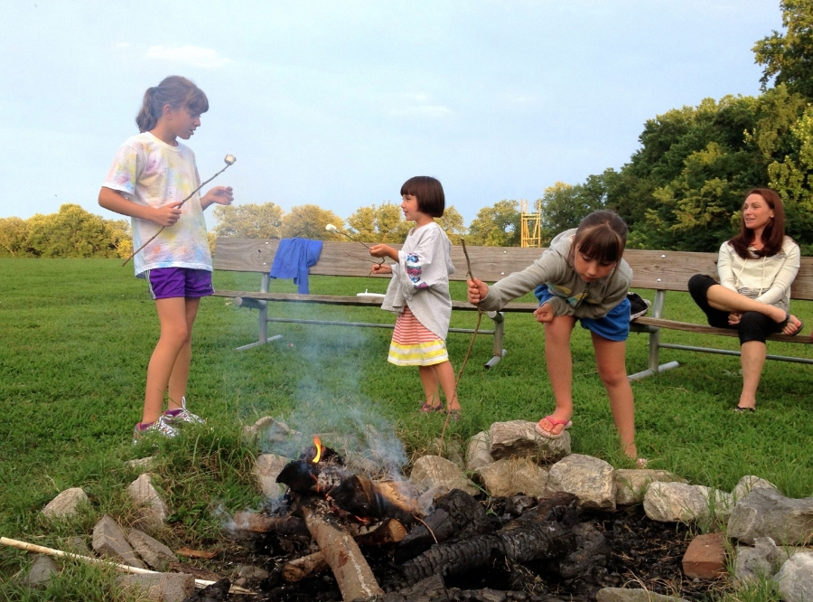 S'mores at the Single Parent Family Retreat