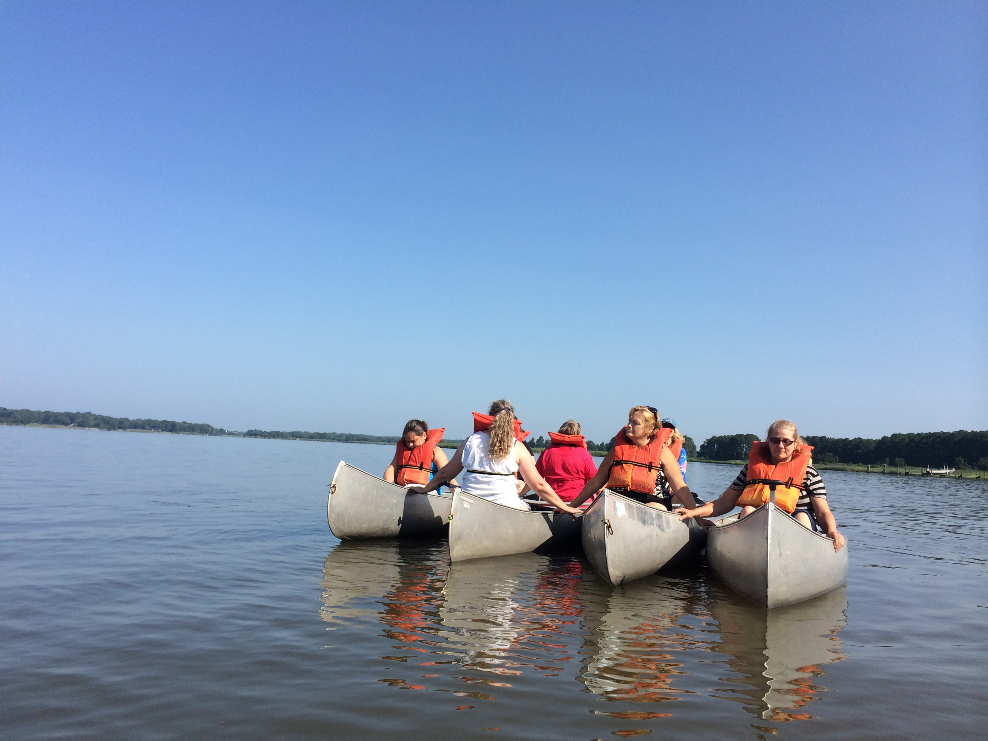 Canoeing on the Chester River at the Pecometh Summer Silent Retreat
